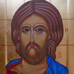 The Saviour gessoed panel egg tempera technique