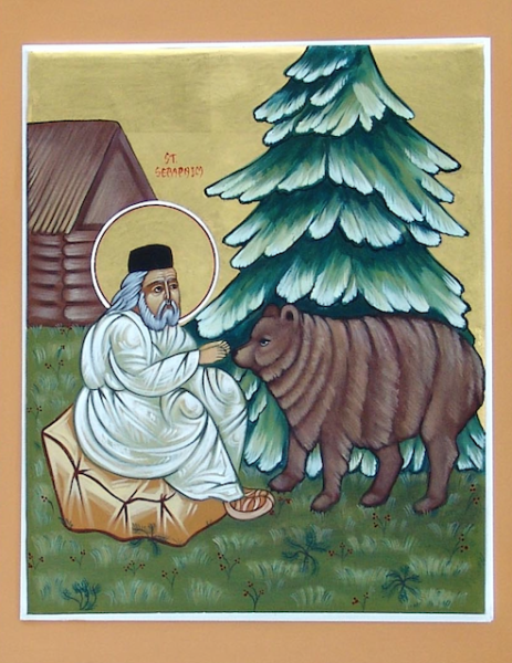 St. Seraphim with the Bear