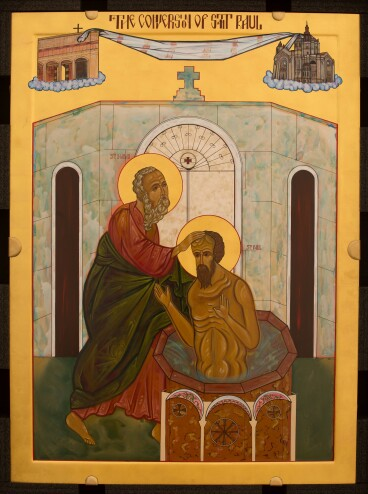 Damascus icon The Conversion of St. Paul